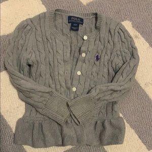 LN Adorable Polo Ralph Lauren cable cardigan